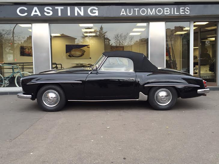 mercedes benz 190 sl noire casting automobile classic. Black Bedroom Furniture Sets. Home Design Ideas